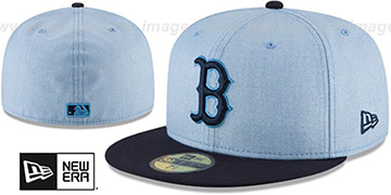 Red Sox 2018 FATHERS DAY Sky-Navy Fitted Hat by New Era