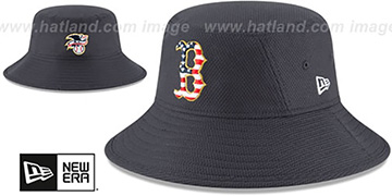 Red Sox 2018 JULY 4TH STARS N STRIPES BUCKET Navy Hat by New Era