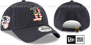 Red Sox '2018 JULY 4TH STARS N STRIPES STRAPBACK' Navy Hat by New Era