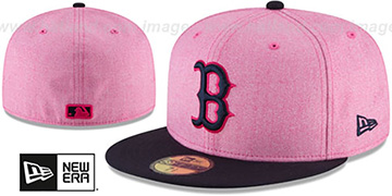 Red Sox '2018 MOTHERS DAY' Pink-Navy Fitted Hat by New Era