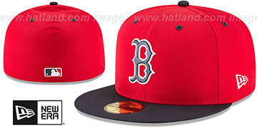 Red Sox 2018 PROLIGHT-BP Red-Navy Fitted Hat by New Era