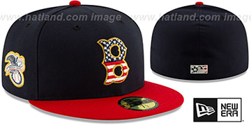 Red Sox 2019 JULY 4TH STARS N STRIPES Fitted Hat by New Era