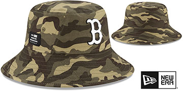 Red Sox 2021 ARMED FORCES STARS N STRIPES BUCKET Hat by New Era