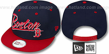Red Sox '2T MLB RETRO-WORD SNAPBACK' Navy-Red Adjustable Hat by New Era