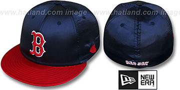 Red Sox '2T SATIN CLASSIC' Navy-Red Fitted Hat by New Era