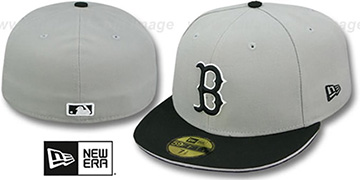 Red Sox 2T SPLIT TEAM-BASIC Grey-Black Fitted Hat by New Era