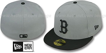 Red Sox 2T TEAM-BASIC Grey-Black Fitted Hat by New Era