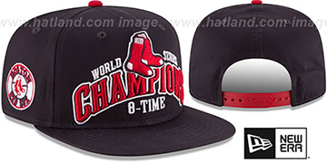 Red Sox 'AL EAST WORLD SERIES CHAMPS SNAPBACK' Navy Hat by New Era