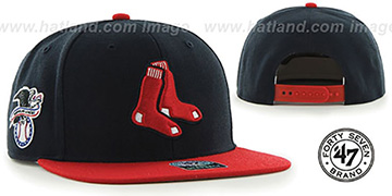 Red Sox 'ALT SURE-SHOT SNAPBACK' Navy-Red Hat by Twins 47 Brand