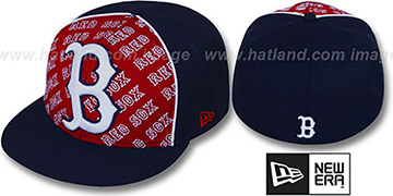 Red Sox 'ANGLEBAR' Navy-Red Fitted Hat by New Era