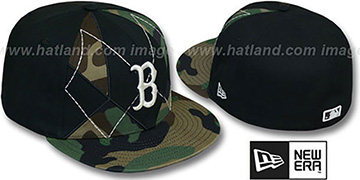 Red Sox ARMY CAMO BRADY Fitted Hat by New Era