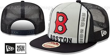 Red Sox BANNER FOAM TRUCKER SNAPBACK Hat by New Era