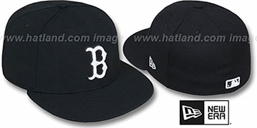 Red Sox 'TEAM-BASIC' Black-White Fitted Hat by New Era