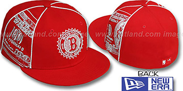 Red Sox C-NOTE Red-Silver Fitted Hat by New Era