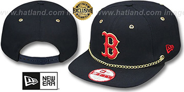 Red Sox 'CHAIN SNAPBACK' Navy Hat by New Era