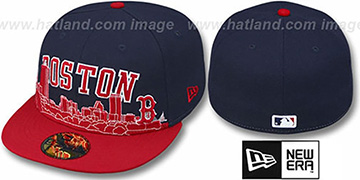 Red Sox 'CITY-LINE' Navy-Red Fitted Hat by New Era