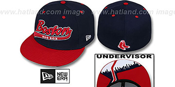 Red Sox CITY-SCRIPT Navy-Red Fitted Hat by New Era