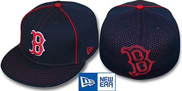 Red Sox 'CONTRAST BP-MESH' Navy Fitted Hat by New Era