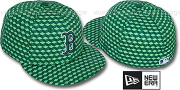 Red Sox 'CUE-BERT' Green Fitted Hat by New Era