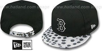 Red Sox DALMATION ANIMALISTIC-FUR VIZA STRAPBACK Hat by New Era