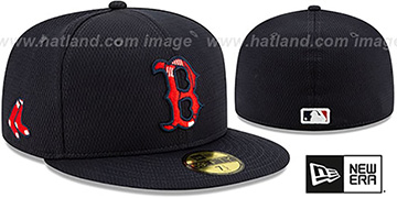 Red Sox DASHMARK BP Navy Fitted Hat by New Era