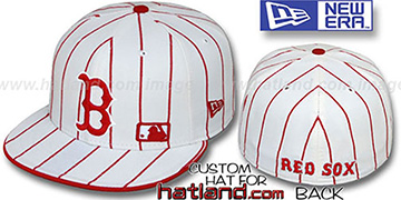 Red Sox FABULOUS White-Red Fitted Hat by New Era