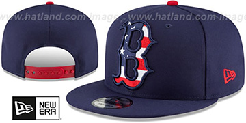 Red Sox 'FLAG FILL INSIDER SNAPBACK' Navy Hat by New Era