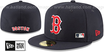 Red Sox 'FLAWLESS PINNED-UP' Navy Fitted Hat by New Era