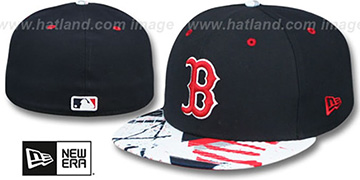Red Sox 'GEOMET TRICK' Navy Fitted Hat by New Era