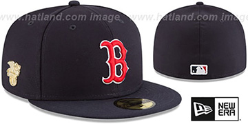 Red Sox GILDED TURN Navy Fitted Hat by New Era