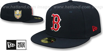 Red Sox GOLDEN-HIT Navy Fitted Hat by New Era