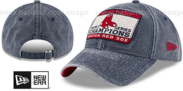 Red Sox GW CHAMPIONS PATCH STRAPBACK Navy Hat by New Era
