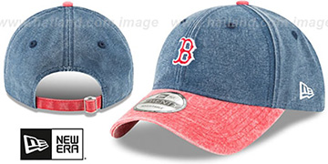 Red Sox 'GW RUGGED CANVAS STRAPBACK' Navy-Red Hat by New Era
