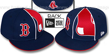 Red Sox 'HBH ZOOM' Navy Fitted Hat by New Era