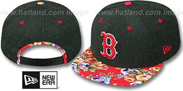 Red Sox 'HEATHER BLOOM SNAPBACK' Charcoal-Red Hat by New Era