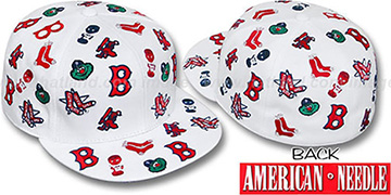 Red Sox 'INTREPID ALL-OVER' White Fitted Hat by American Needle
