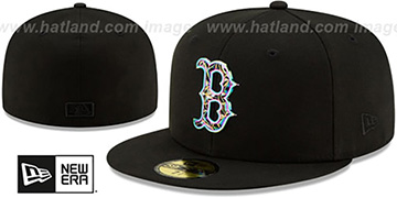 Red Sox IRIDESCENT COLOR-SHIFT Black Fitted Hat by New Era