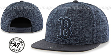 Red Sox 'LEDGEBROOK SNAPBACK' Navy Hat by Twins 47 Brand