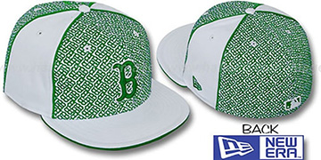 Red Sox LOS-LOGOS White-Green Fitted Hat by New Era