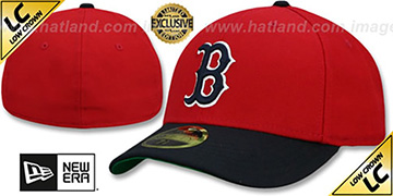 Red Sox LOW-CROWN 1975-78 COOPERSTOWN Fitted Hat by New Era