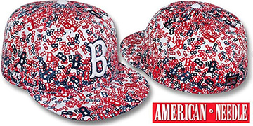 Red Sox 'MATISE' White-Team Color Fitted Hat by American Needle