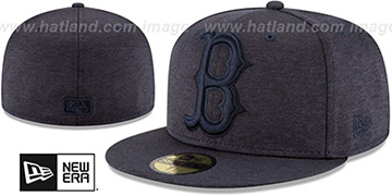 Red Sox 'MEGATONE' Navy Shadow Tech Fitted Hat by New Era