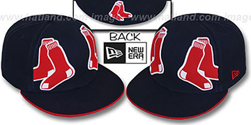 Red Sox 'MIRROR PANELCUT' Navy Fitted Hat by New Era