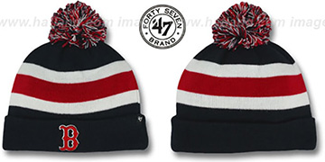 Red Sox 'MLB BREAKAWAY' Navy Knit Beanie Hat by 47 Brand
