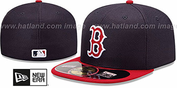 Red Sox 'MLB DIAMOND ERA' 59FIFTY Navy-Red BP Hat by New Era