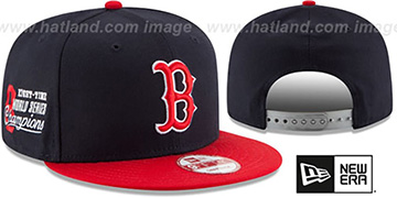 Red Sox MLB STAR-TRIM SNAPBACK Navy-Red Hat by New Era