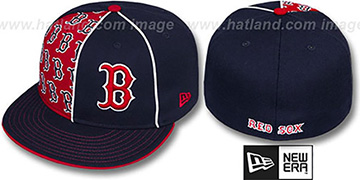 Red Sox MULTIPLY Navy-Red Fitted Hat by New Era