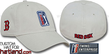 Red Sox PGA FRANCHISE Hat by Twins - stone