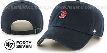 Red Sox 'POLO STRAPBACK' Navy Hat by Twins 47 Brand