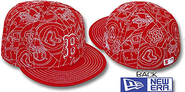 Red Sox PUFFY REMIX Red-White Fitted Hat by New Era